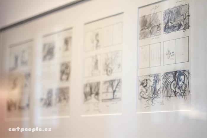 bocetos de Madama Butterfly de Benjamin Lacombe