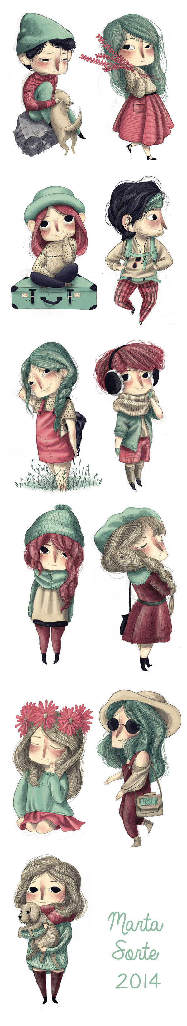 Marta Sorte - Daily Character ilustraciones
