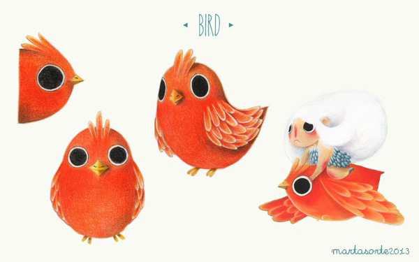 Sylph project book - Pajarito Naranja Diseño de Personajes