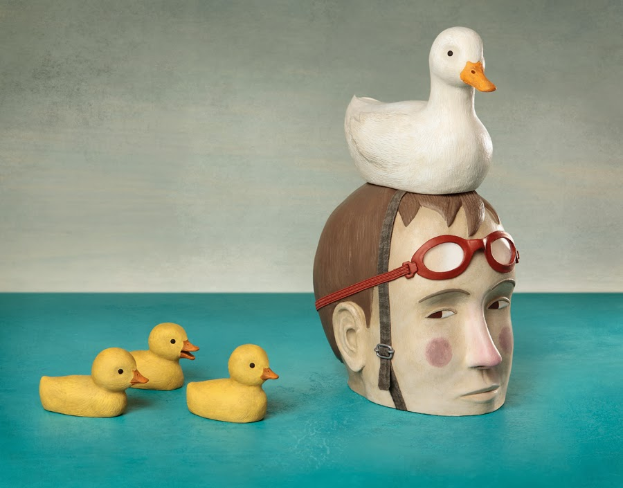 Irma Gruenholz - Patitos en la piscina