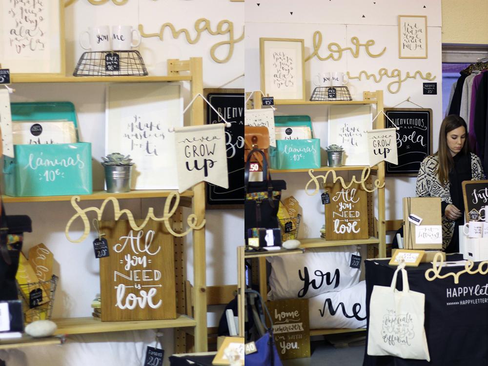 Stand de Happy Letters en el Nómada Market