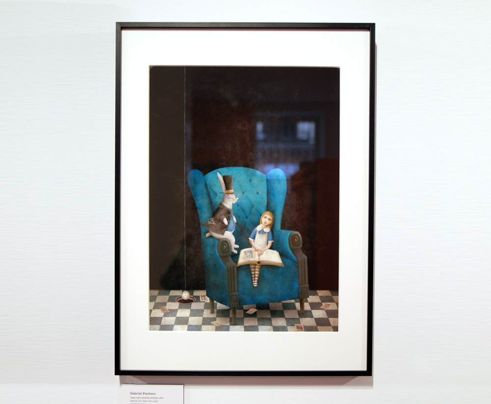 Alicia Museo ABC Gabriel Pacheco Cartel sobre los Derechos Infantiles