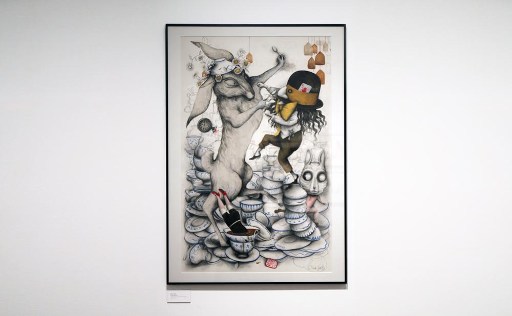 Exposición Museo ABC Alicia 150 años Ilustración de Ana Juan