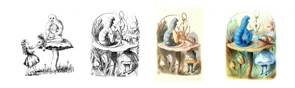 Alicia Museo ABC Alicia Ilustrada John Tenniel Oruga