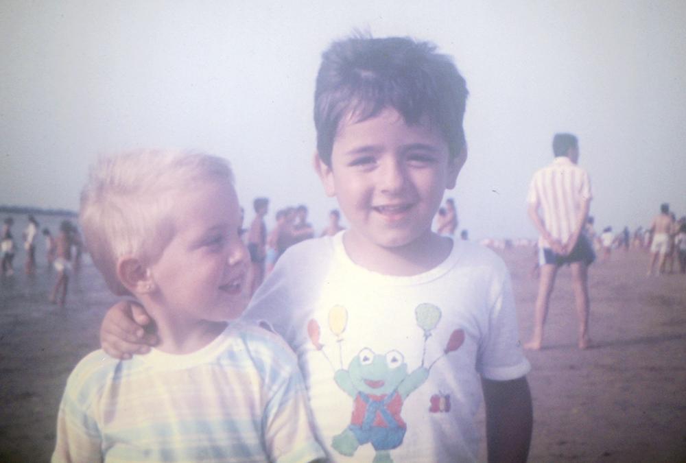 Infancia - yo y primo rafa