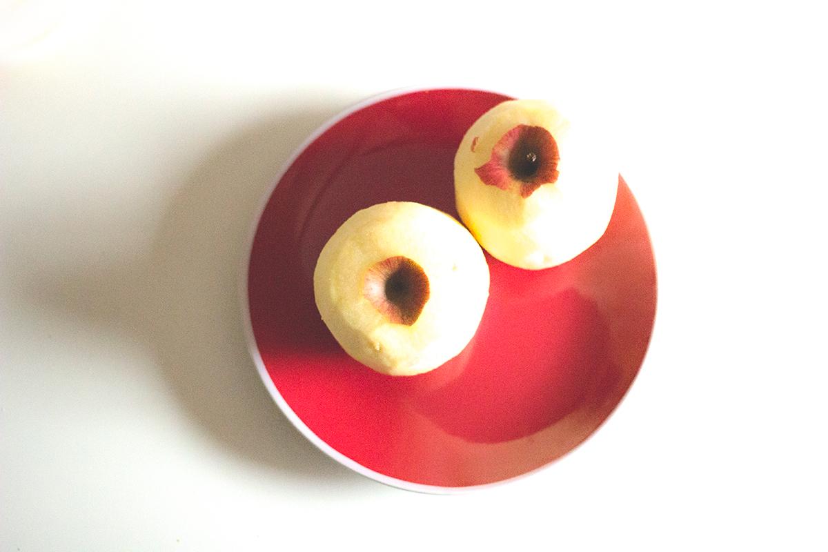 Tarta de manzana, canela y copos de avena - Manzanas Starking peladas