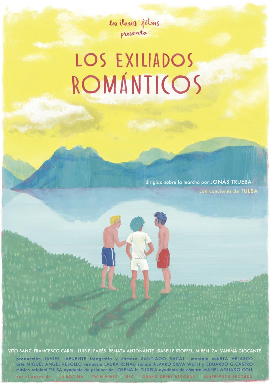 Clara León cartel de Los Exiliados Románticos